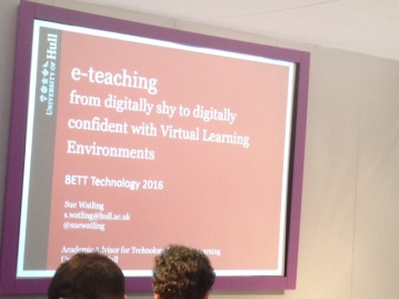 Opening slide to e-teaching presentation