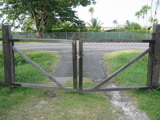 image of a locked gate