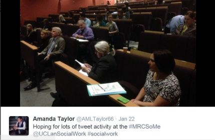 MRC Conference, UCLan, 22 January 2016