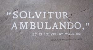 solvitur ambulando from a Labyrinth Festival poster