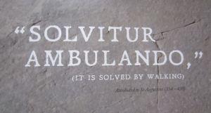 solvitur ambulando from a Labyrinth Festival poster