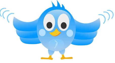 image of a blue twitter bird