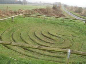 Walls of Troy Turf Labyrinth near Dalby, North Yorkshire
