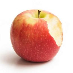apple with a bite removed