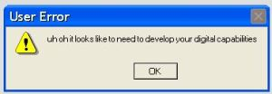 operating system error message