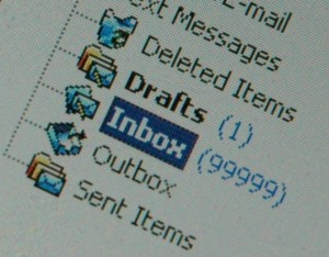 emial inbox menu showing 99999 items