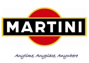 martini logo with the words anytime, anyplace, anywhere