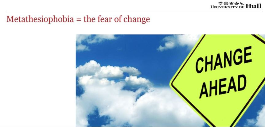 Fear of change signpost