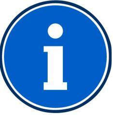 blue information symbol