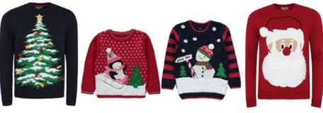 selection of different Christmas jumpers