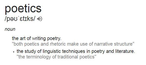 poetics definition