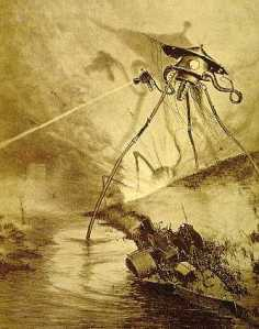 Image of the tripod from H.G. Wells War of the Worlds