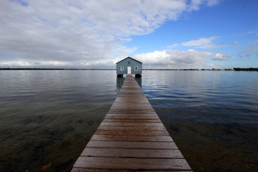 house on the edge of a jetty