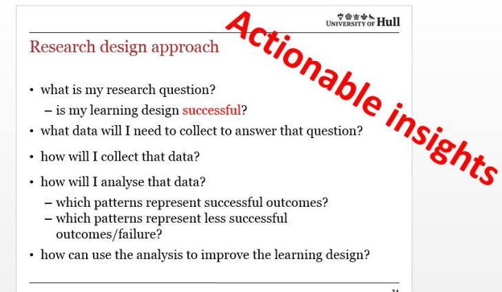 suggested list of criteria for learning design