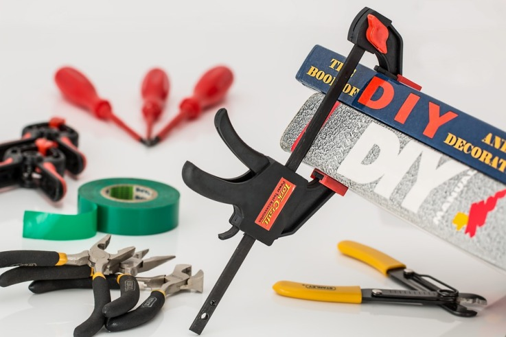 range of tools for DIY