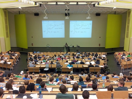 image showing a full lecture theatre