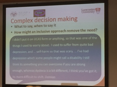 slide showing student comments about complex decision making - contact me for full text version