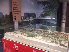 University of Northampton Waterside Campus display in Park Campus Library