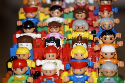 image showing a crowd of toy people