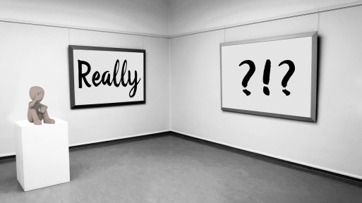 art gallery showing questions and answers processes