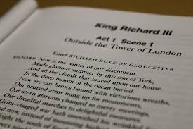 text from Richard III by Shakespeare