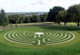 labyrinth in the grounds of University of KEnt Canterbury Campus
