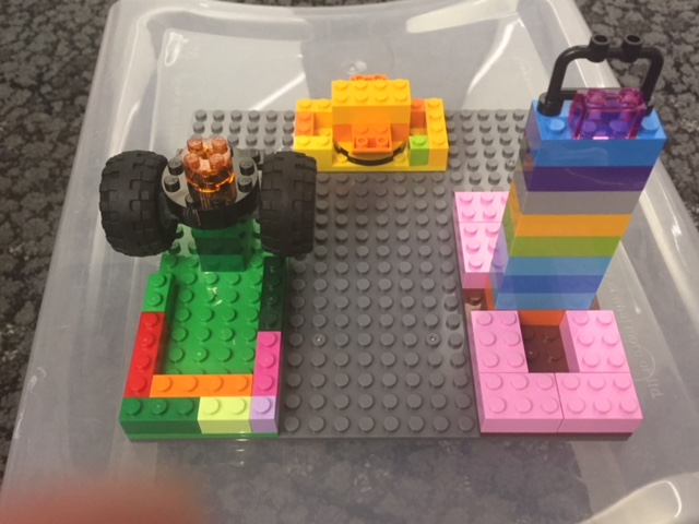 three lego models representing teaching styles