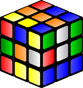 mixed up rubrik cube