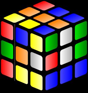 mixed up rubrik cube