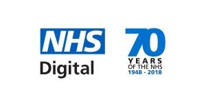NHS Digitsl logo blue on white