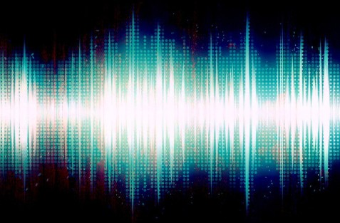 image shwing audio recorded sound waves