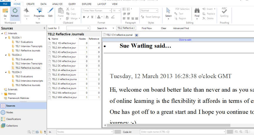 image showing text size in NVivo