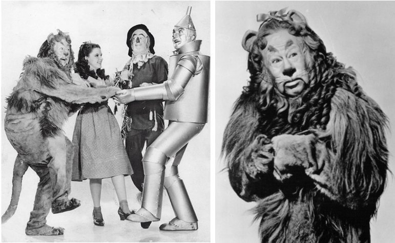 Wizard of Oz and the Lion who needs courage