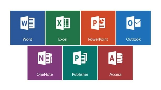 MS Office 365 logos