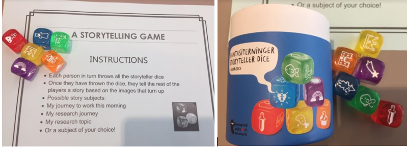 storytelling dice and activitiy instructions