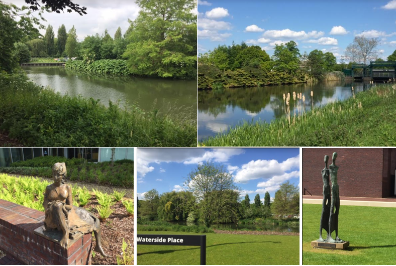 images showing the waterside campus of the university of northampton