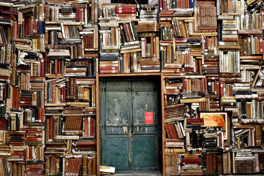 room full of books